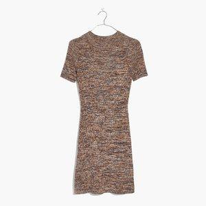 Madewell Marled Slim Mockneck Sweater Dress